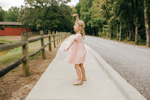 CORAL PEACH | TWIRL DRESS
