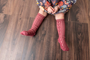 MAROON KNEE HIGH SOCKS