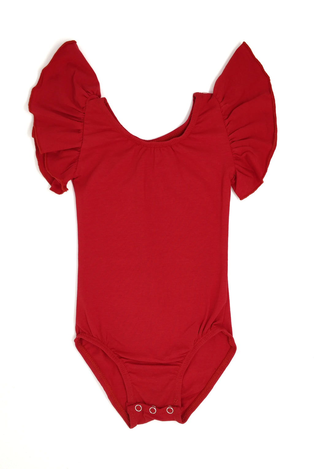 RED | FLUTTER SLEEVE LEOTARD