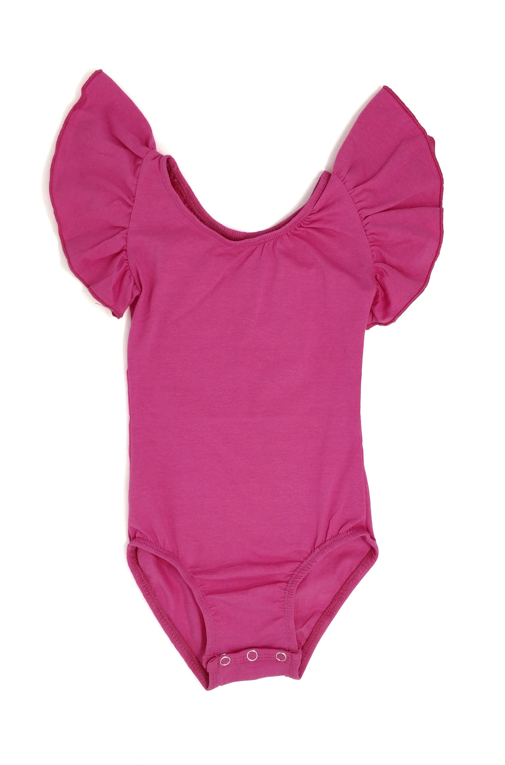 HOT PINK | FLUTTER SLEEVE LEOTARD