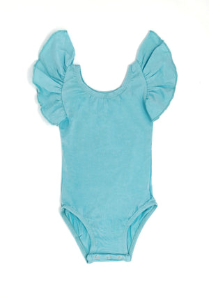 AQUA | FLUTTER SLEEVE LEOTARD
