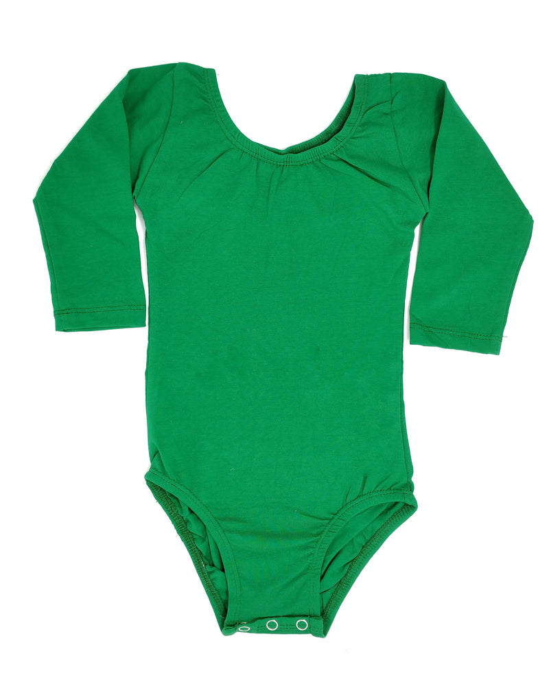 GREEN | LONG SLEEVE LEOTARD