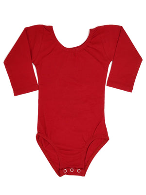 RED | LONG SLEEVE LEOTARD