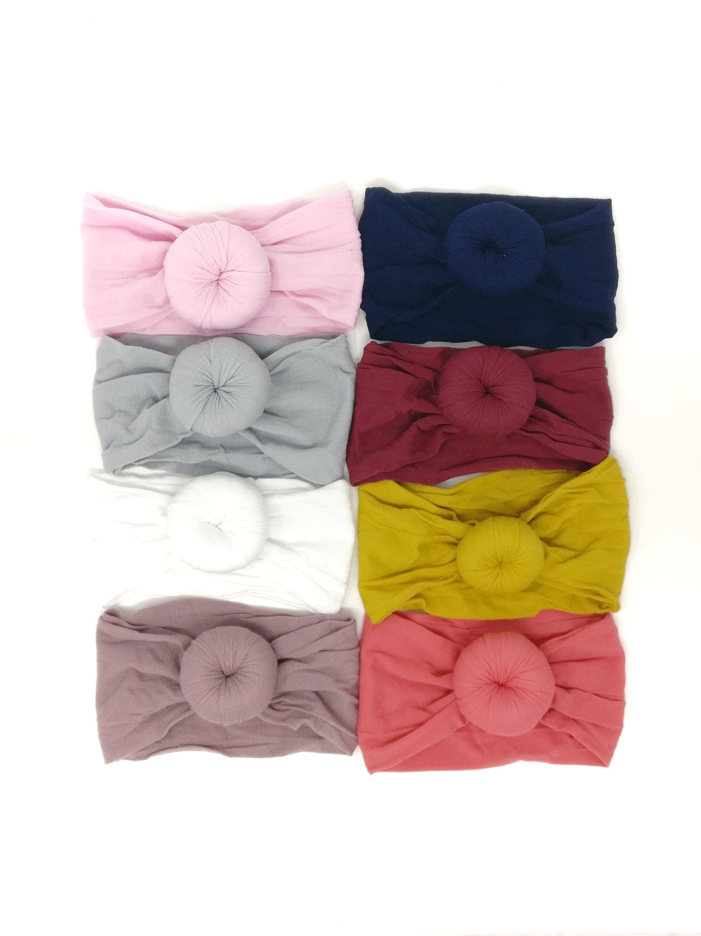 NYLON ROUND KNOT HEADBANDS
