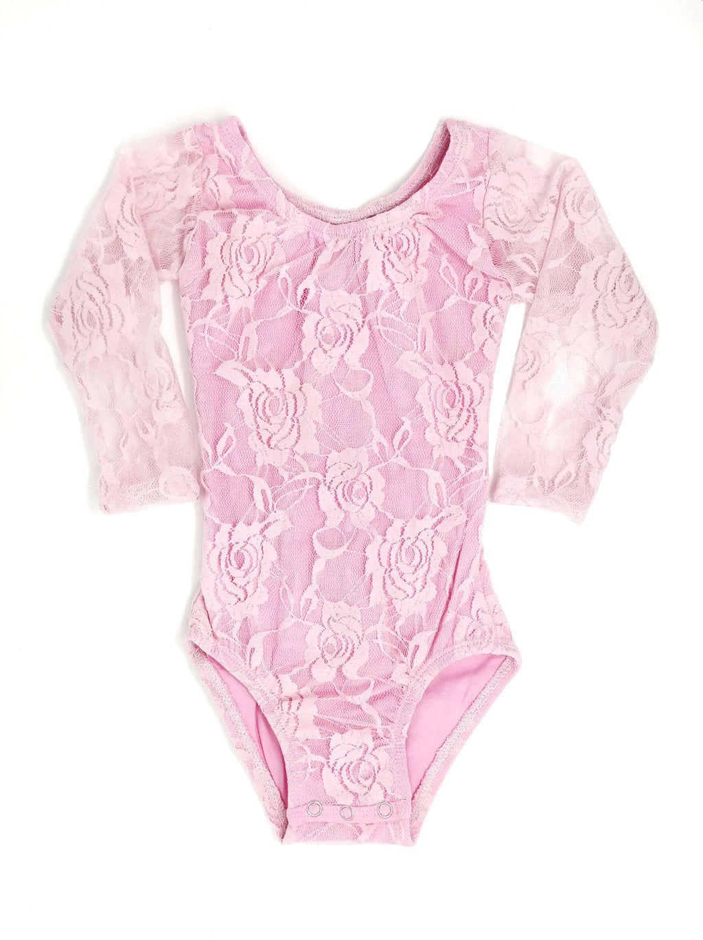 PINK LACE | LONG SLEEVE LEOTARD - SIZE UP