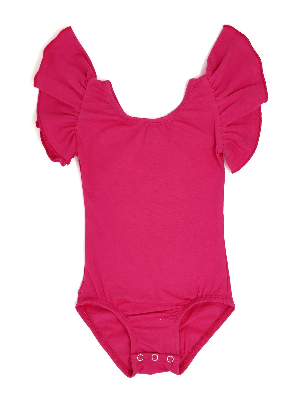 DARK HOT PINK | FLUTTER SLEEVE LEOTARD
