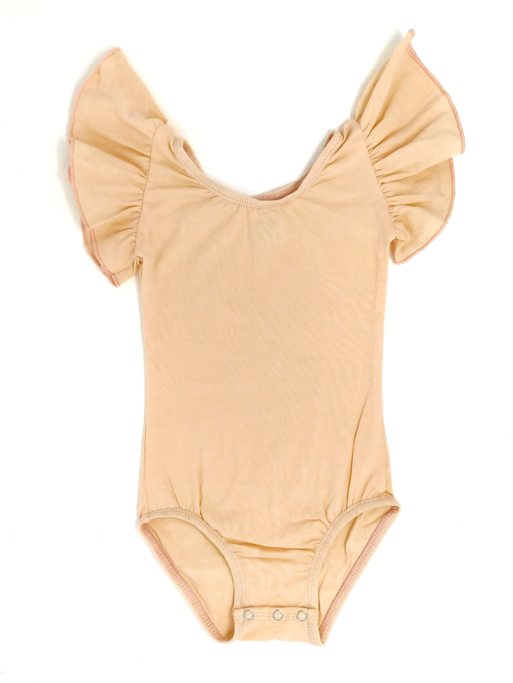 PEACH | FLUTTER SLEEVE LEOTARD