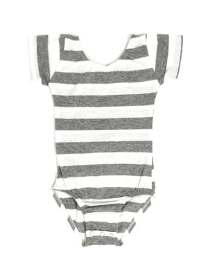 GREY STRIPES | CAP SLEEVE LEOTARD
