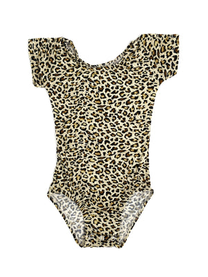 LEOPARD | CAP SLEEVE LEOTARD