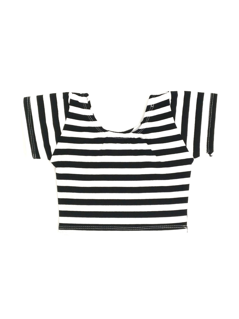 BLACK & WHITE STRIPES | CROP TOP