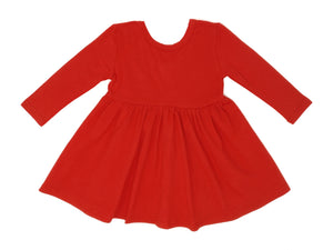 RED | TWIRL DRESS
