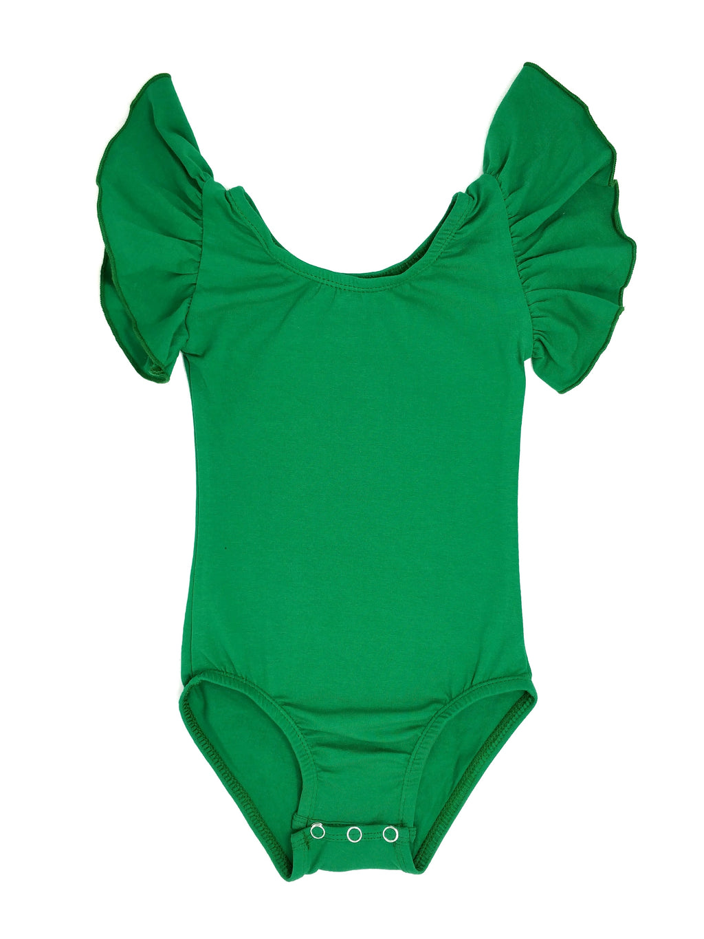 GREEN | FLUTTER SLEEVE LEOTARD