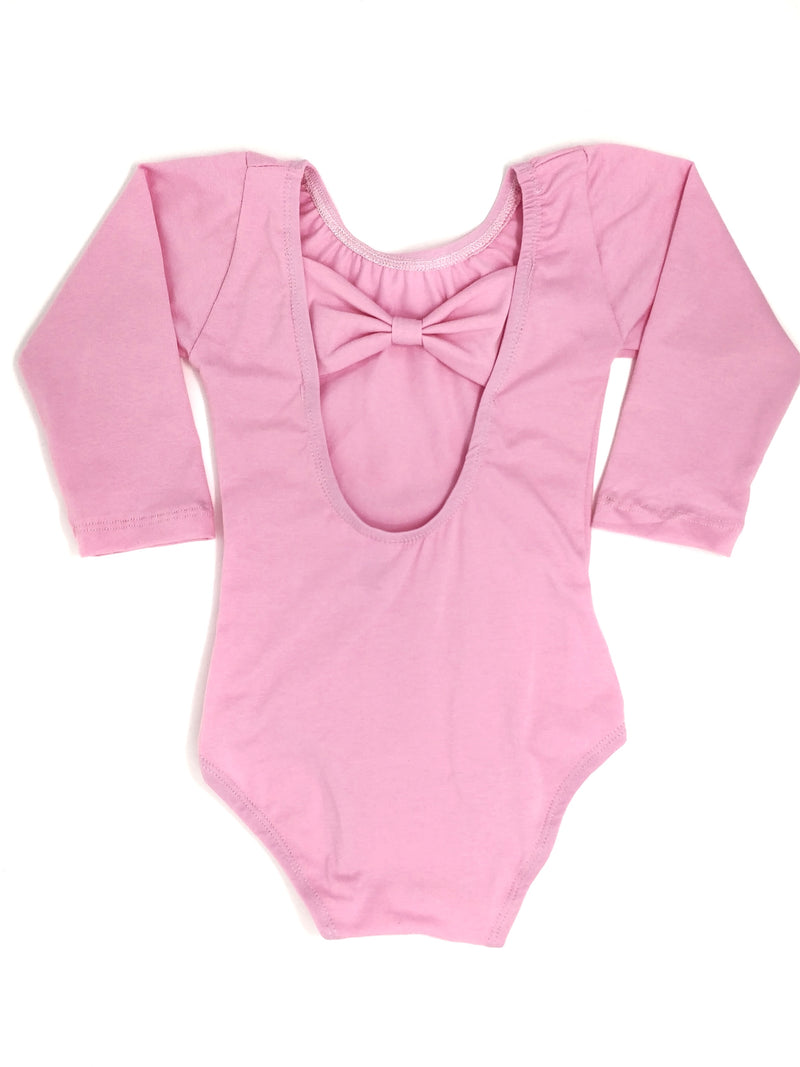 PINK | BOW BACK LONG SLEEVE LEOTARD