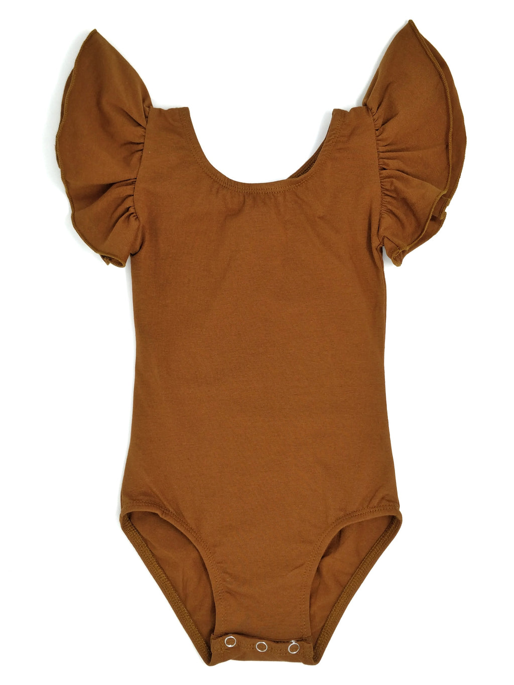 RUST | FLUTTER SLEEVE LEOTARD