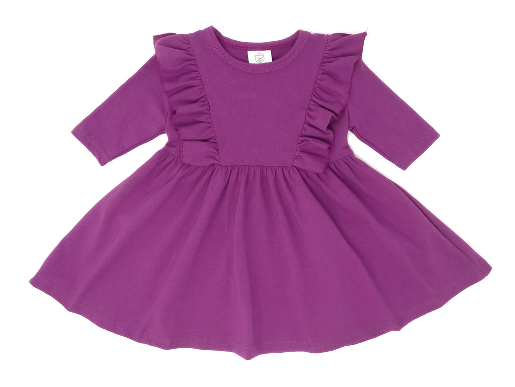 ORCHID | TWIRL DRESS WITH RUFFLES