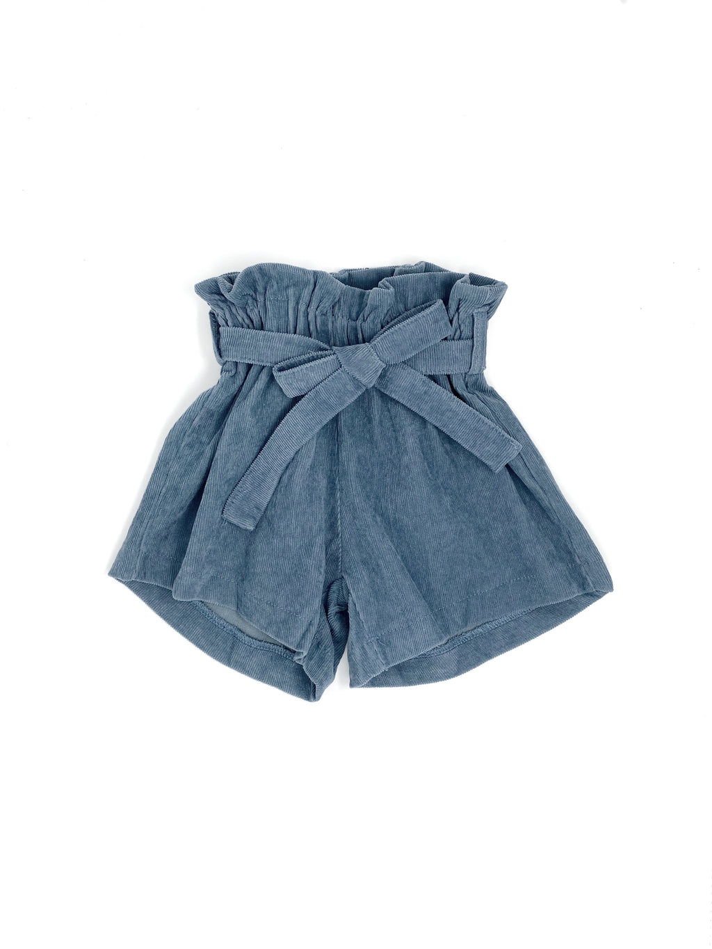 DENIM BLUE CORDUROY | SKIRT SHORTS