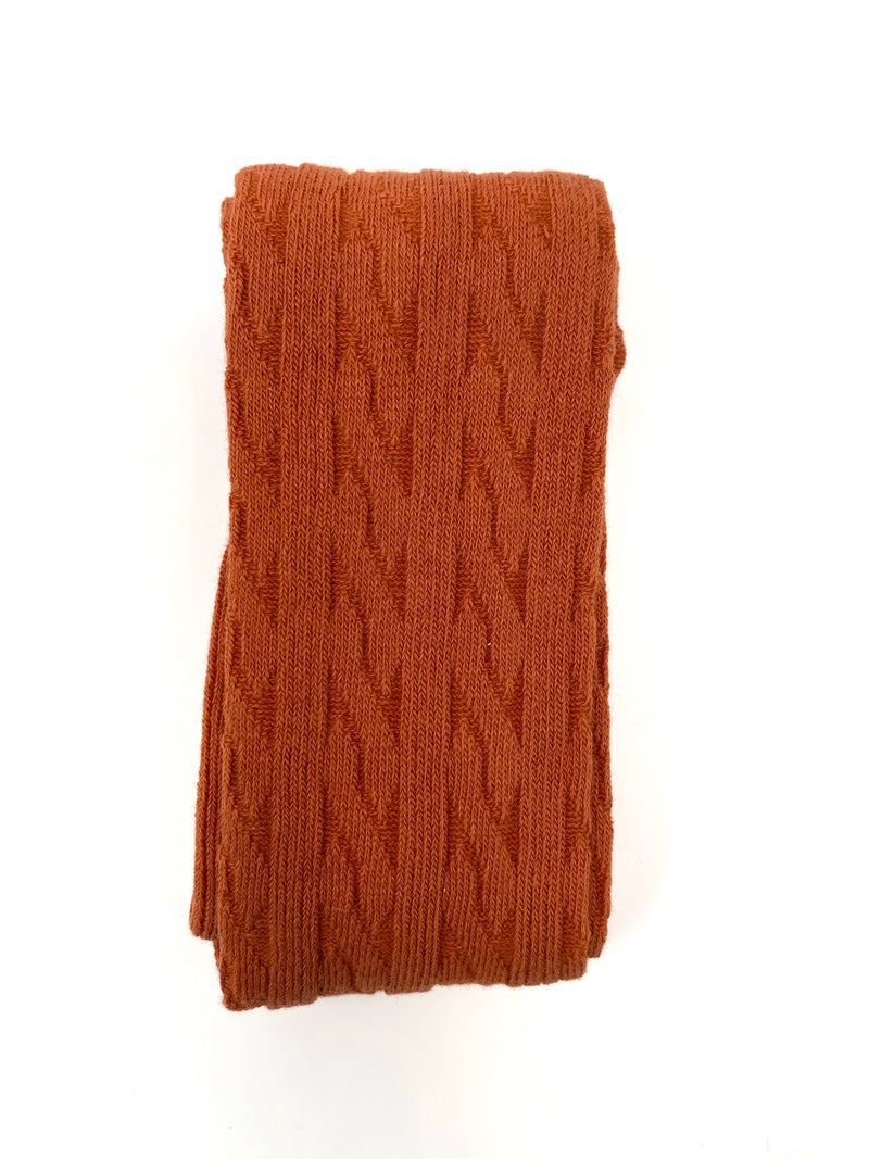 RUST | CABLE KNIT TIGHTS