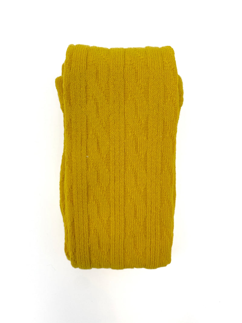 MUSTARD | CABLE KNIT TIGHTS