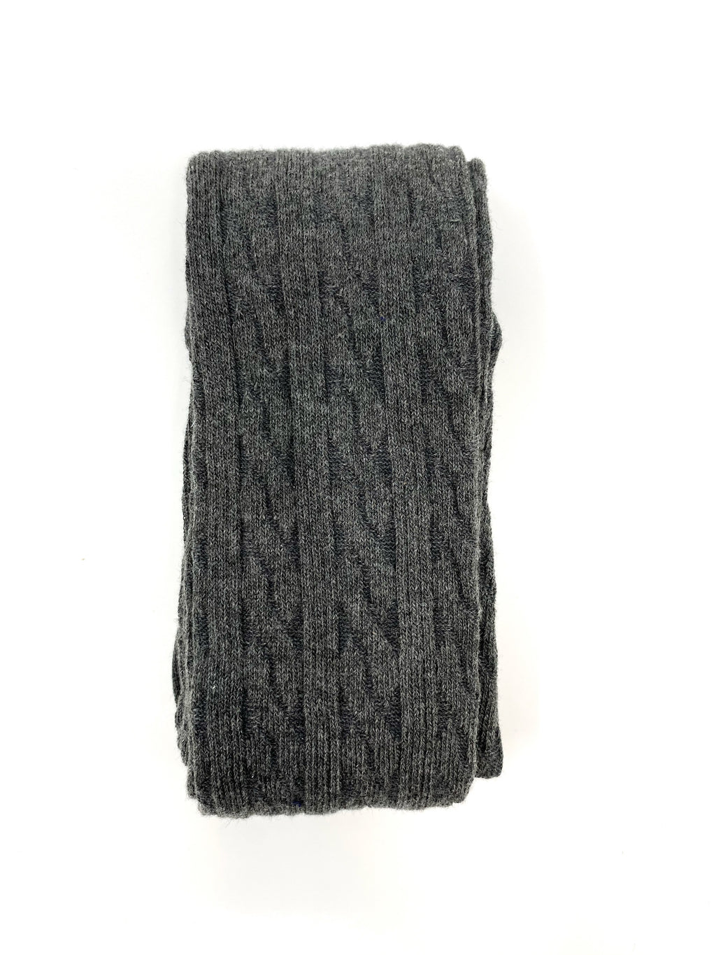 DARK GREY | CABLE KNIT TIGHTS