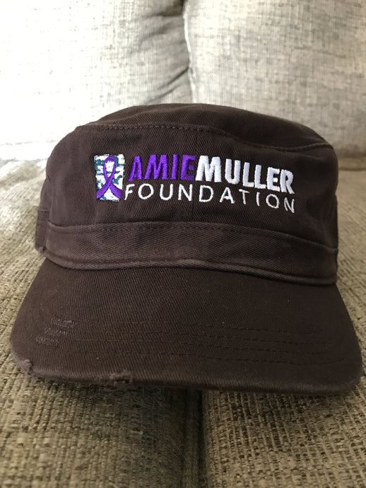 Amie Muller Foundation Military Style Hat- Brown