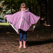 baby parka pink toddler coat on 5 year old unzipped into poncho