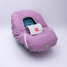 baby parka pink car seat cover front view