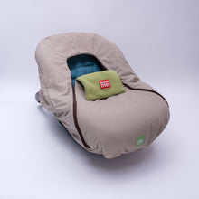 baby parka stone car seat cover front view