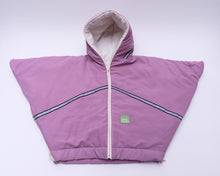 baby parka pink toddler coat front view