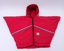 baby parka toddler coat red front view