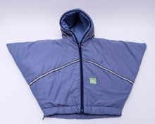 baby parka blue toddler coat front view