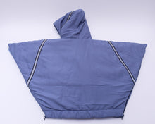 baby parka blue toddler coat back view