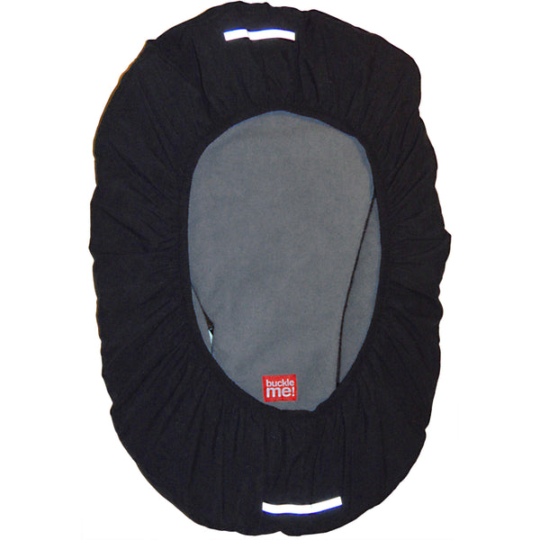 car seat cover - shower cap style - black
