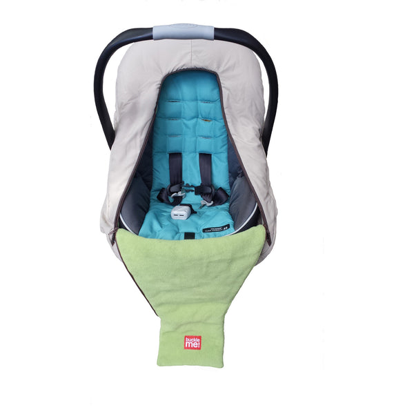car seat cover - shower cap style - blue