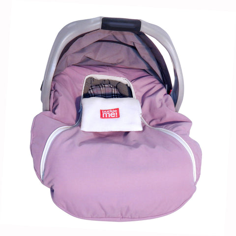 car seat cover - shower cap style - pink