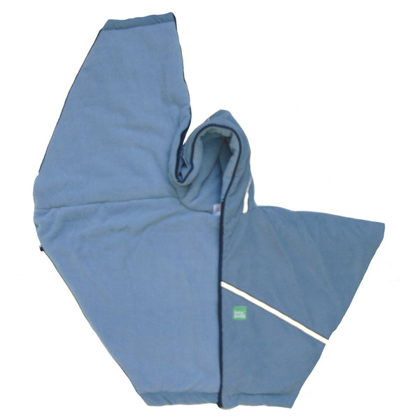 toddler car coat/poncho - blue