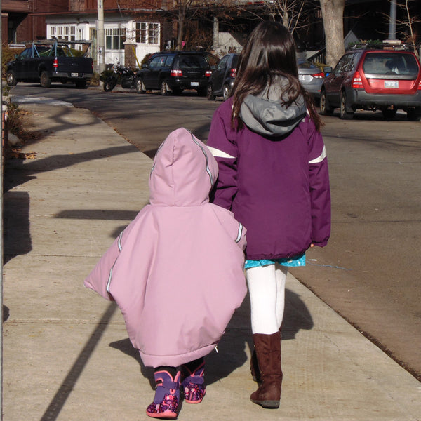 toddler car coat/poncho - pink
