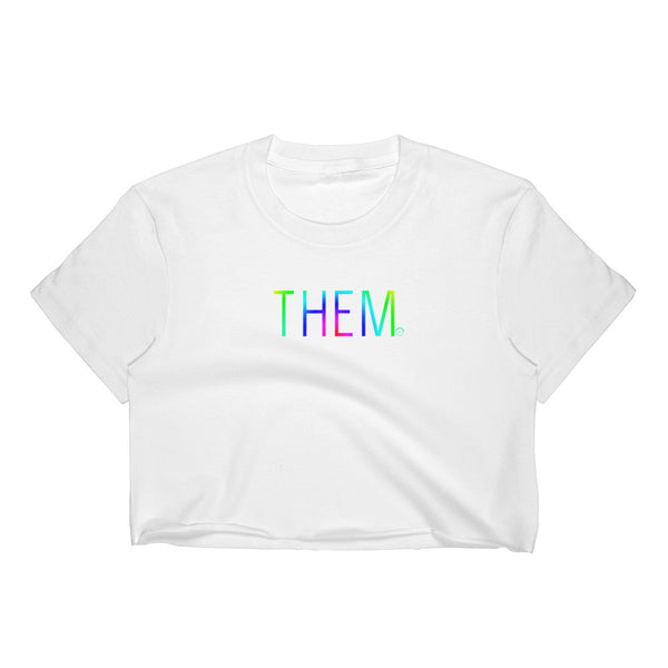 Pride Edition THEM Women's Crop Top