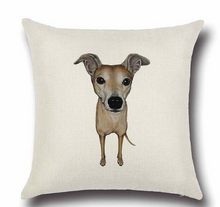 1 Pcs Dog Pattern Cotton Linen  Pillow