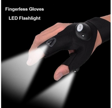 Fishing Fingerless Glove LED Light