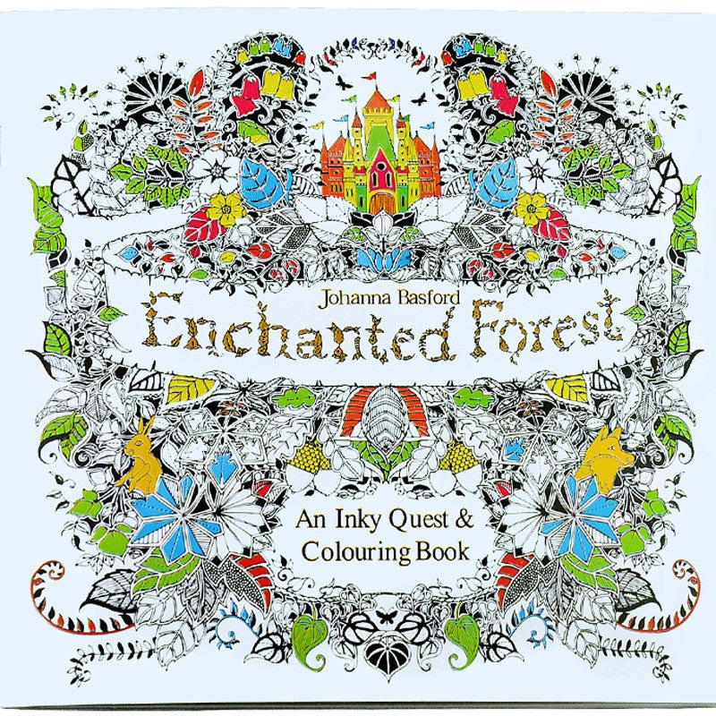 24 Pages Enchanted Forest Secret Garden Coloring book for Adults