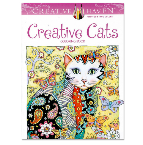 1 PCS 24 Pages Creative Cats Coloring Book For Children $ Adult