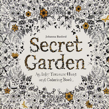 24 Pages Secret Garden English Edition Coloring Book For Children & Adult