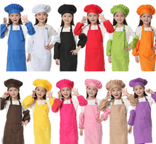 Kitchen Baking Painting Cooking Bib Apron Enfant Tablier Hat & Sleeves