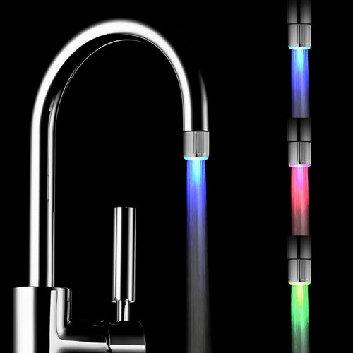 LED Water Faucet Light Colorful Changing Glow Shower Head Kitchen