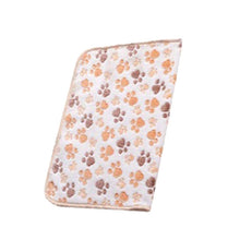 Cutel Pet Warm Paw Print Dog  Fleece Blanket
