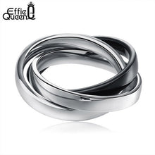 Men Women Three Tone Mix Color Ring
