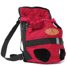 Red Canvas Pet Backpack  Carry Bag