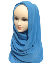 Long Sheer Chiffon Plain Shawl Wrap Head Scarf Hijab Solid Colors Muslim