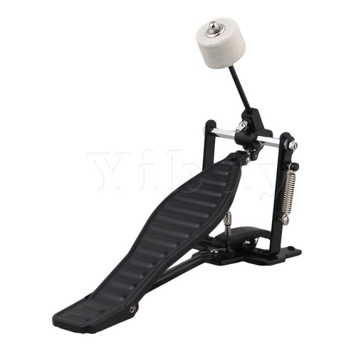 Yibuy Black Aluminum  Drum Pedal and Drumstick
