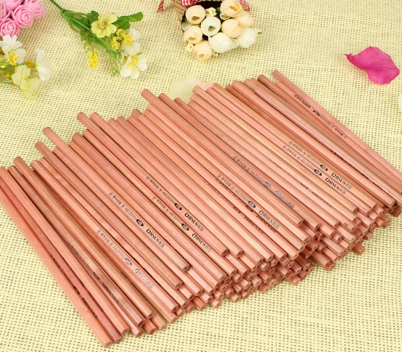 100PCs Wood Pencil HB  Non-toxic Standard